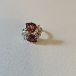Sarah Coventry Adjustable Purple Love Story Ring